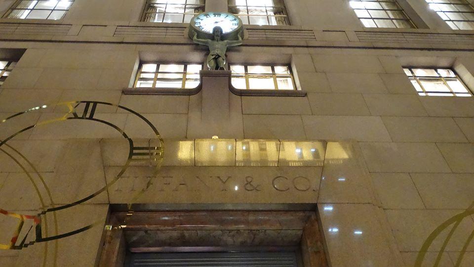 the entrance of Tiffany NY