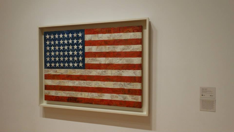 USA flag MoMA Museum