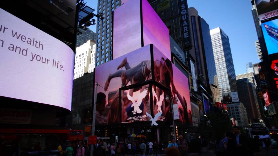 eagle screen Times Square