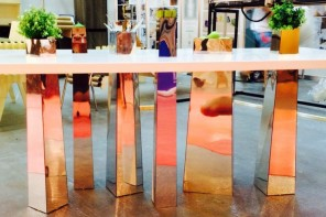 The unique table with mirror legs