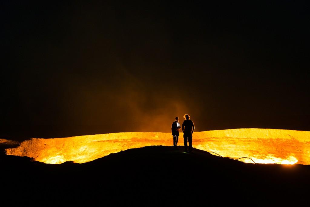 Mandy si Pieter Poarta catre iad Gates to Hell Turkmenistan