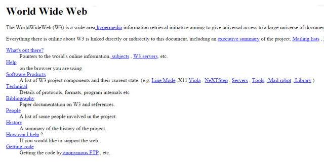 primul website din lume.