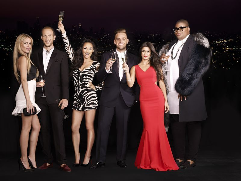 #RICHKIDS OF BEVERLY HILLS -- Season: 2 -- Pictured (l-r): (Jonny Drubel, Morgan Stewart, Brendan Fitzpatrick, Dorothy Wang, Roxy Sowlaty, EJ Johnson) -- (Photo by: Matthias Vriens-McGrath/E!)
