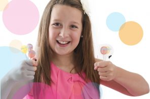 A 12-year-old girl invented the natural lollipops good for children's teeth. Now the delicious products will hit Oral Health Section of 4,000 Walmart stores in USA