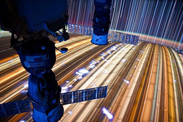 Fotografie orbita spatiu astronaut don pettit
