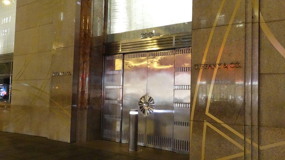 the entrance of Tiffany NY 2