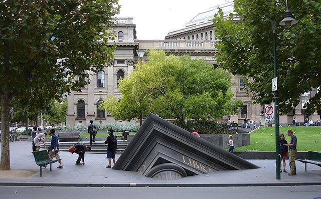 Sinking Building Melbourne