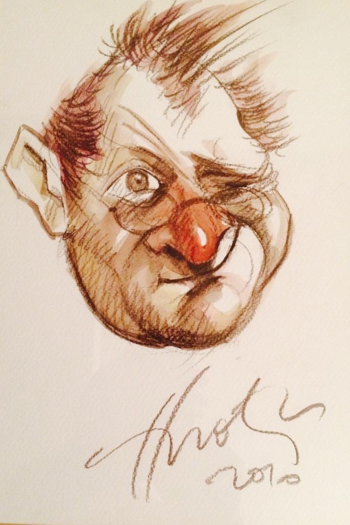 caricatura Malaele autograf