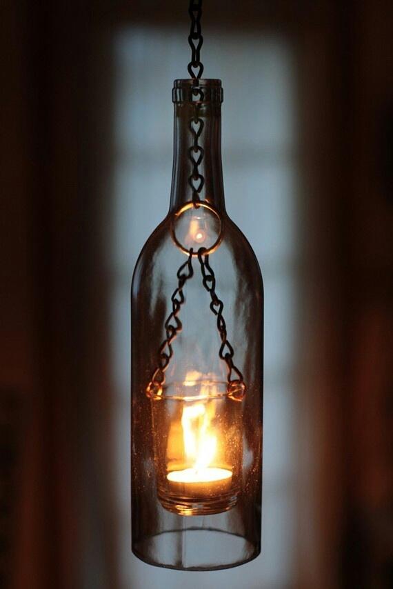 ornament sticla lumanare