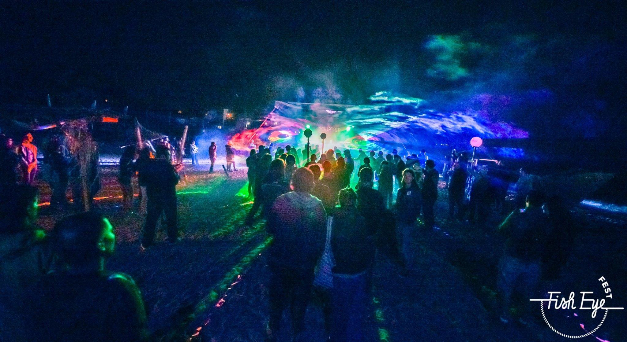 Fish Eye Fest laser show